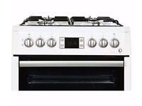[Ex-Display] (NEW) BEKO 60cm Dual Fuel Cooker - BDVF675NTW White