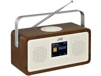 JVC RA-DS77 PORTABLE DAB+ FM RADIO 3.2 LCD DISPLAY