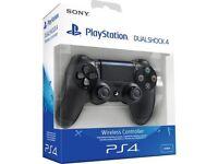 PS4 DualShock 4 Controller Pro/Slim Official PlayStation V2 In Jet Black.