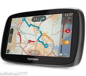 Tomtom Go   Inch Gps Sat Nav Uk Full Europe Lifetime Maps