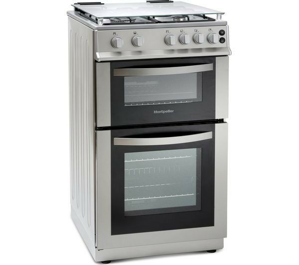 [new] Montpellier 50cm Gas Cooker - Silver MDG500LS