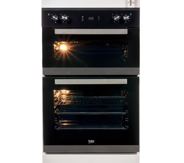 BRAND NEW INBUILT BEKO BXDF25300X ELECTRIC DOUBLE OVEN - STAINLESS STEEL
