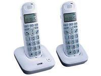 logicL20DBIG10 cordless phones twin pack