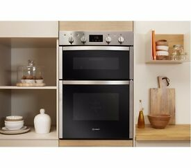 Brand new Indesit Built in double oven