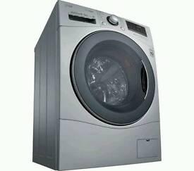 Bargain EX DISPLAY LG FH4A8TDH4N Washer Dryer - Silver