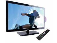 """LOGIK 24"""" LED TV with built in DVD player."""