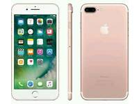 Apple iPhone 7 plus, rose, 32GB, unlocked, mint condition.