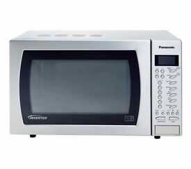 New Boxed Panasonic Nnst479sb Solo Microwave Stainless Steel Was 159 99