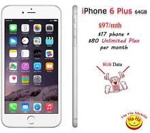 New Unlocked Apple iPhone 6 Plus Unlimited Australian Calls Plan Auburn Auburn Area Preview