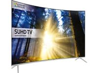 SAMSUNG 55 CURVED QUANTUM DOT DISPLAY SMART SUHD 4K HDR 2200PQI VOICE CONTROL FREESAT & FREEVIEW HD