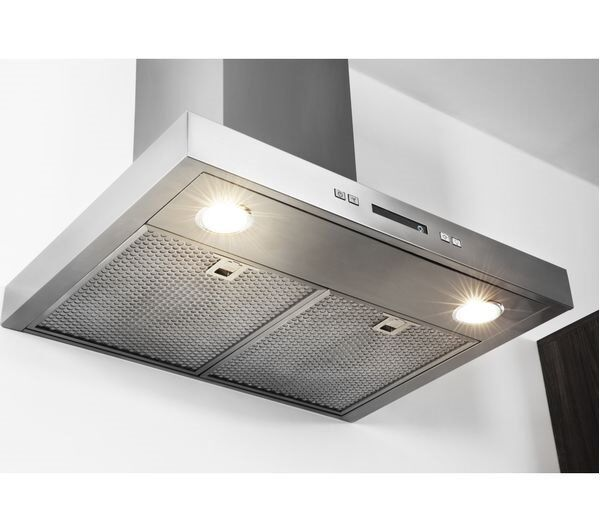 NEW - HOTPOINT PHBS6.7FLLIX Chimney Cooker Hood - Stainless Steel - BARGAIN PRICE @ £100