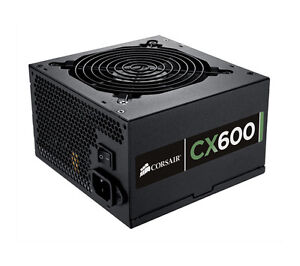CORSAIR CX600 Fixed ATX PSU 600 W 80 PLUS Bronze 120 mm fan Black