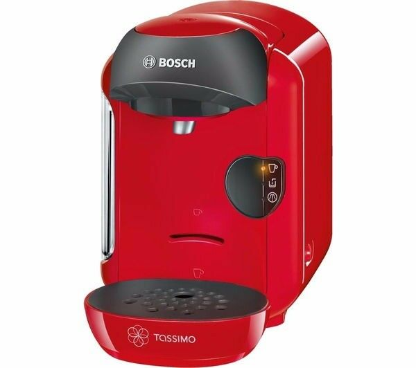 Tassimo by Bosch - Red 'Vivy' espresso coffee machine TAS1253GB