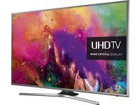 SAMSUNG 55 4K UHD SMART TV NANO CRYSTAL DISPLAY SCREEN MIRRORING, WIFI FREEVIEW HD 1400HZ (PQI)