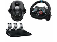 Logitech G29 racing wheel PC/PS4 with gearstick