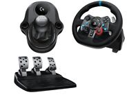 Logitech g29 Racing Wheel, Gearstick and pedals