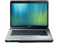 REFURBISHED WIN 7 TOSHIBA LAPTOP L300, CORE 2 DUO 2 GB DDR2 160 GB HDD, DVD RW , FREE DELIVERY