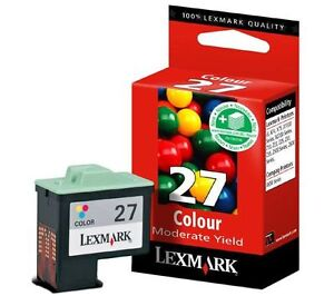Lot of 2 Lexmark #27 Color Ink Cartridges GENUINE NEW!
