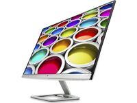 "HP 27ea Full HD 27"" IPS LED Monitor 1920 x 1080p Full HD Built-in speakers"