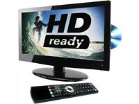 "L19DVDB11 LOGIK 19"" LCD HD READY Combi TV With DVD Player 19 Inch with Remote As NEW"