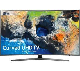 NEW SAMSUNG 65 Smart 4K Ultra HD 1700PQI VOICE CONTROL CURVED HDR LED FREESAT & FREEVIEW HD TV!!