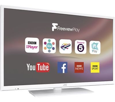 """JVC LT-32C671 32"""" LED HD Smart WiFi TV In White with Freeview HD, USB PVR"""