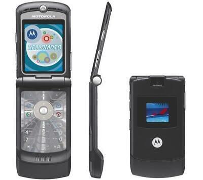 MOTOROLA V3 RAZR FLIP MOBILE PHONE-UNLOCKED WITH NEW CHARGAR, BATTARY & WARRANTY