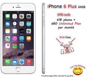 New Unlocked iPhone 6 Plus 16GB Unlimited Australian Calls Plan Auburn Auburn Area Preview
