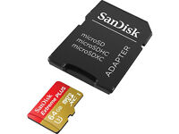 SANDISK Extreme Plus microSD Memory Card - 64 GB - (USED ONCE)
