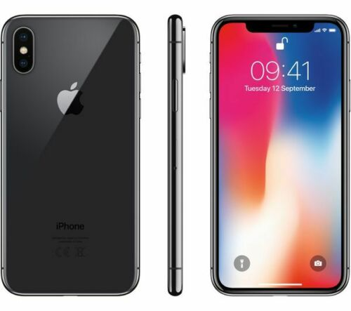 Apple iPhone X 256GB Space Gray - Factory GSM Unlocked AT&T/T-Mobile Smartphone