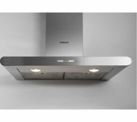 NEW - HOTPOINT PHC7.7FLBIX 70cm Chimney Cooker Hood - Stainless Steel - BARGAIN PRICE @ £100