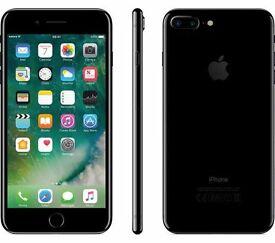 Unlocked, jet Black iPhone 7 Plus 256Gb