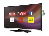 """**new** JVC 32"""" smart led tv television with built in DVD player and wifi."""