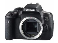 Canon EOS 750D Digital Camera Body Only. unopened. Boxed.