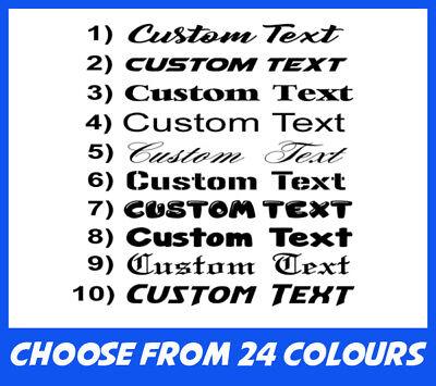4 X Custom Text Personalised Funny Van Car Bike Window Laptop Phone Sticker