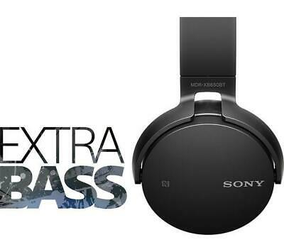BRAND NEW SONY MDRXB650BT EXTRA BASS WIRELESS ON EAR HEADPHONES - BLACK