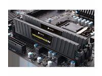 CORSAIR Vengeance LP Black DDR3 PC Memory - 2 x 8 GB DIMM RAM 1600mhz (Collection & Sale Only)