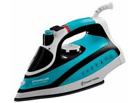 Brand New Russell Hobbs Steamglide 2600W Professional Steam Iron - Blue and Black