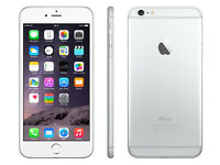 GENUINE APPLE IPHONE 6 PLUS SILVER WHITE UNLOCKED 16GB WITH BOX AND 8 MONTHS APPLE WARRANTY
