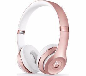 Beats by Dre Solo3 On-Ear Wireless Headphones - Rose Gold - RRP £219.99