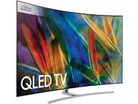 65'' SAMSUNG CURVED QLED SMART 4K QHDR 1500 ULTRA HD 3200PQI. MODEL QE65Q8CAM. FREE DELIVERY
