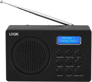 LOGIK L2DAB16 Portable DAB/FM Radio - Black - Currys