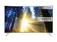 NEW SAMSUNG 65 CURVED QUANTUM DOT DISPLAY SMART LED SUHD HDR 2200 PQI FREESAT &FREEVIEW HD