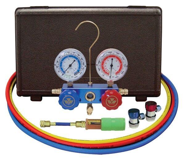 "Mastercool R134A A/C Manifold Gauge Set 60"" Hoses MANUAL Couplers 89661-UV -"