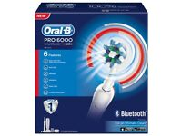 Oral-B PRO 6000 Electric Toothbrush. (BRAUN.) BRAND NEW BOXED! WITH BLUETOOTH. IDEAL PRESENT / GIFT!