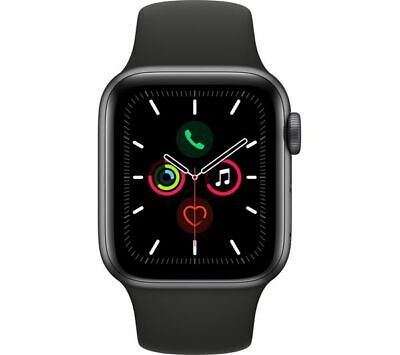 Apple Watch Series 5 (GPS) 44mm Space Grey Aluminium Case with Black Sport Band