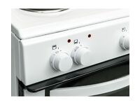 (ex display) CURRYS CFTE50W17 50 cm Electric Solid Plate Cooker - White