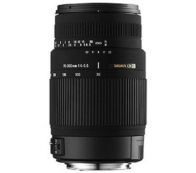 Sigma 70-300mm f/4-5.6 DG Macro Telephoto Zoom Lens for Canon Manual & Autofocus