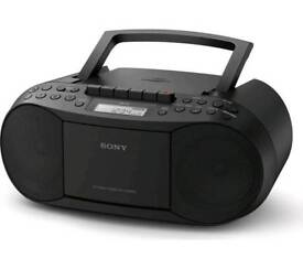 NEW Sony CD Player Boombox CFDS70B RRP £70 OUR PRICE £44.99 ONLY