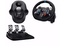 Logitech Driving Force G29 Racing Wheel, Pedals & GEARSTICK for PC PS4 PS3 GTSport Gran Turismo